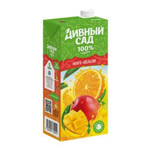 Apelsīnu-mango sulu saturošs dzieriens bērniem no 3 gadu vecuma 1l