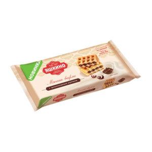 """Mīkstās vafeles """"Yashkino"""" ar šokolādes krēmu 120g"""