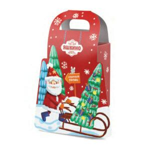 """«Яшкино» ziemassvētku saldumu dāvana """"Ziemassvētku vecītis"""" 300g"""