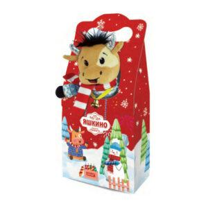 """«Яшкино» ziemassvētku saldumu dāvana """"Vērsis"""" 370g"""