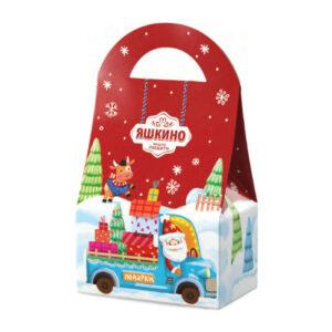 """«Яшкино» ziemassvētku saldumu dāvana """"Rokassomiņa sarkana"""" 700g"""