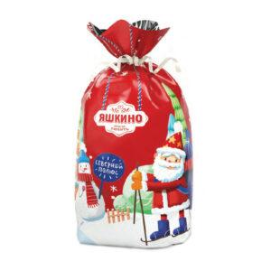 """«Яшкино» ziemassvētku saldumu dāvana """"Konfekšu maisiņš"""" 800g"""