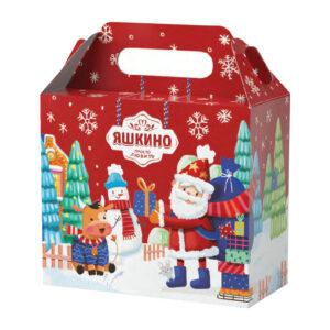 """«Яшкино» ziemassvētku saldumu dāvana """"Ladīte ziemas pilsēta"""" 1kg"""