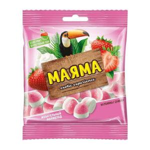 Fasētas košļājamās želejkonfektes ar augļu garšu «Маяма» 170g