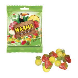 Fasētas košļājamās želejkonfektes ar augļu garšu «Маяма» 70g