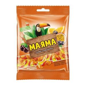 Fasētas košļājamās želejkonfektes ar augļu pildījumu «Маяма» 70g