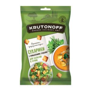 «KRUTONOFF» kviešu grauzdiņi salātiem un zupām ar Provansas garšaugiem 100g