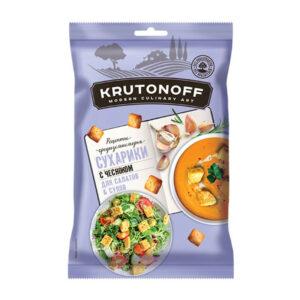 «KRUTONOFF» kviešu grauzdiņi ar ķiplokiem 100g