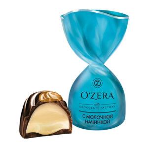 Sveramās konfektes O`Zera ar piena pildījumu 500g