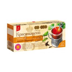 """Melnā tēja """"Краснодарскiй с 1901 года"""" (25 gab. 1.7 gr) 50g"""
