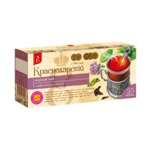 Melnā tēja ar timiānu un raudeni «Краснодарскiй с 1901 года» (25 gb  2 gr) 50g