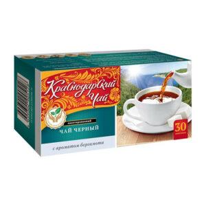 Krasnodaras melnā tēja ar bergamotes aromātu  (30 gb 2gr) 60g