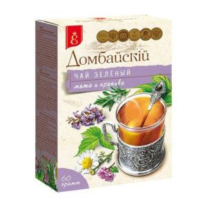 Beramā zaļā tēja ar zāļu piedevām «Домбайскiй» 60g