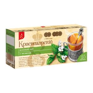 Zaļā tēja ar zāļu piedevām paciņās «Краснодарскiй с 1901 года» (25 gb 1.7 gr) 43g