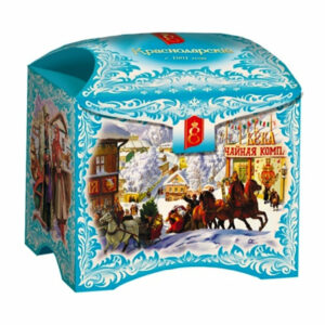 """Beramā melnā lielo lapu tēja dāvanu kartona kastē """"Краснодарскiй с 1901 года"""" 100g"""