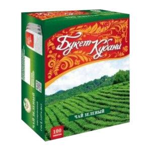 """Krasnodaras zaļā tēja """"Букет Кубани"""" paciņās (100 gb 2gr) 200g"""