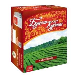 """Krasnodaras melnā tēja """"Букет Кубани"""" paciņās (100 gb 2gr) 200g"""