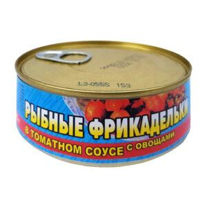 Zivju frikadeles ar dārzeņiem tomātu mērcē 240g