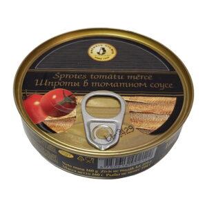 """Šprotes tomātu mērcē """"Brīvais vilnis"""" 160g"""