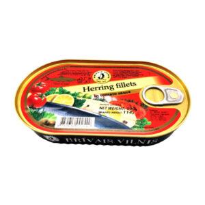 Atlantijas siļķe apcepta tomātu mērcē 190g