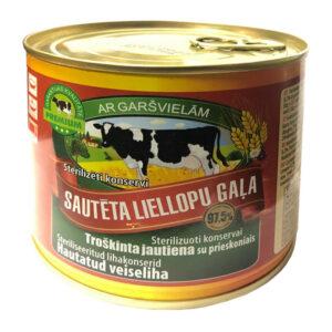 Sautēta liellopu gaļa ar garšvielām BRASLA LVA 97.5% 525g