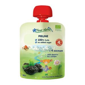Žāvētu plūmju biezenis Fleur Alpine Organic bērniem no 4 mēnešu vecuma 90g
