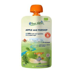 Ābolu un pastinaku biezenis Fleur Alpine Organic bērniem no 6 mēnešu vecuma 120g