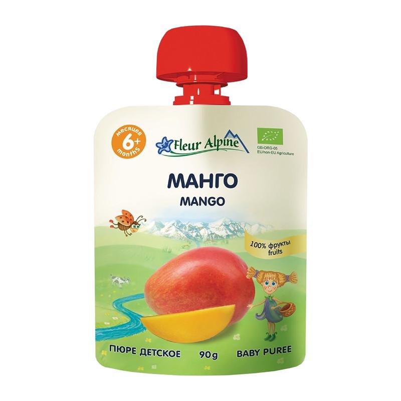 Mango biezenis Fleur Alpine Organic bērniem no 6 mēnešu vecuma 90g