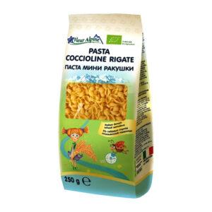 Makaroni mini gliemežvāki Pasta Coccioline Rigate visai ģimenei 250g