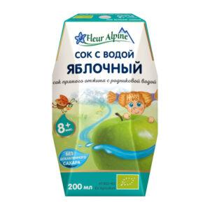 Ābolu sula Fleur Alpine Organic bērniem no 8 mēnešu vecuma 200ml