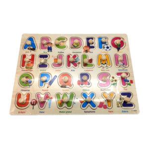 """Koka puzle """"Alfabēta burti"""" bērniem no 3 gadu vecuma"""