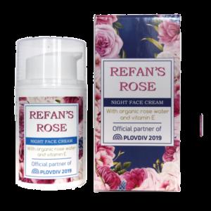 REFAN Nakts sejas krēms Refan's Rose