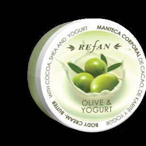 REFAN Ķermeņa krēmsviests «Jogurts un olīva»