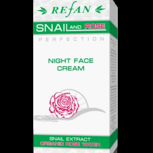 REFAN Sejas nakts krēms SNAIL AND ROSE PERFECTION