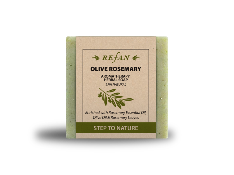 REFAN Zāles ziepes STEP TO NATURE - AROMATHERAPY OLIVE ROSEMARY