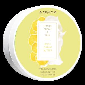 REFAN Ķermeņa krēms-sviests Citrona sufle&Piens