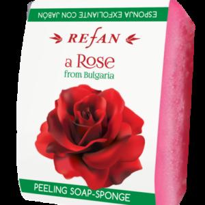 REFAN Pīlinga ziepju sūklis «Roze no Bulgārijas»